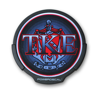 TKE Greek Light Up Power Decal