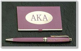 Greek Pen & Card Case