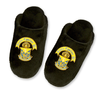 Greek Solids - Crest Slippers