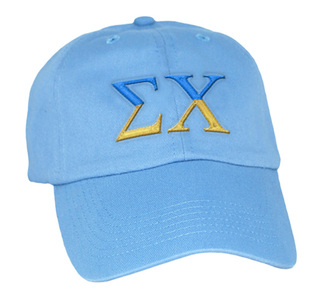 Greek Two Tone Letter Hat