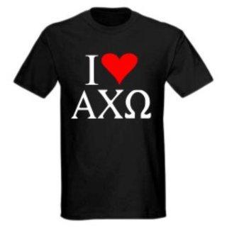 I Love Alpha Chi Omega T-Shirts