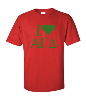 I Love Alpha Gamma Delta T-Shirts