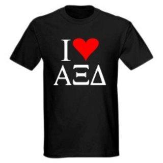 I Love Alpha Xi Delta T-Shirts