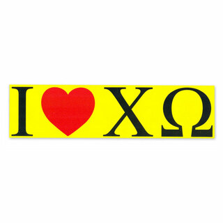 I Love Chi Omega Bumper Sticker
