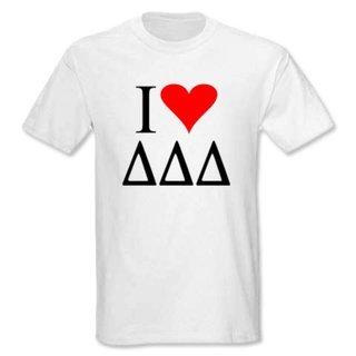 I Love Delta Delta Delta T-Shirts