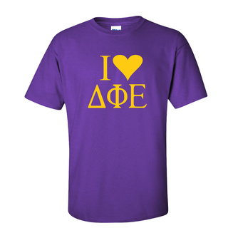 I Love Delta Phi Epsilon T-Shirts