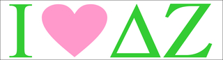 I Love Delta Zeta Bumper Sticker