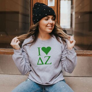 I Love Delta Zeta Crewneck Sweatshirt