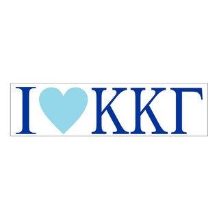 I Love Kappa Kappa Gamma Bumper Sticker