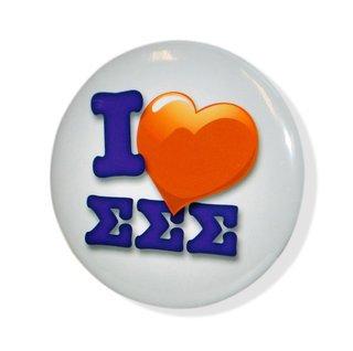 I Love Sigma Sigma Sigma Buttons