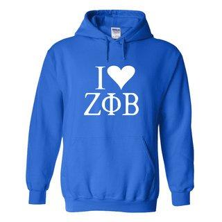 I Love Zeta Phi Beta Hooded Sweatshirt