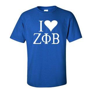 I Love Zeta Phi Beta T-Shirts