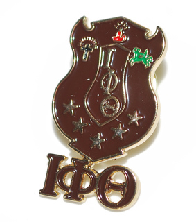 Iota Phi Theta 3D Color Shield w Letters Pins