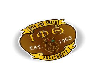 Iota Phi Theta Banner Crest - Shield Decal