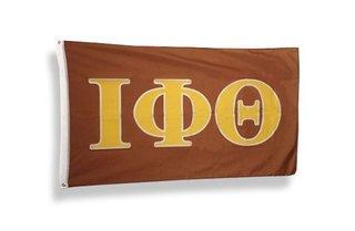 Iota Phi Theta Big Greek Letter Flag - Brown