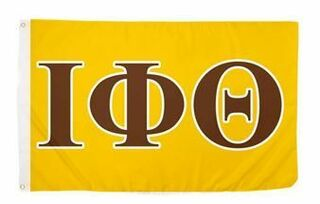 Iota Phi Theta Big Greek Letter Flag - Brown