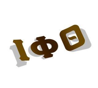 Iota Phi Theta Big Greek Letter Window Sticker Decal