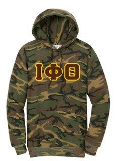 DISCOUNT-Iota Phi Theta Camo Pullover Hooded Sweatshirt