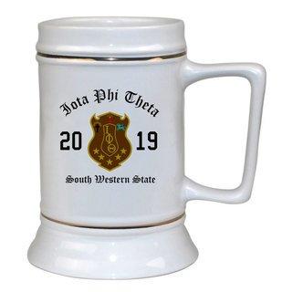 Iota Phi Theta Ceramic Crest & Year Ceramic Stein Tankard - 28 ozs!