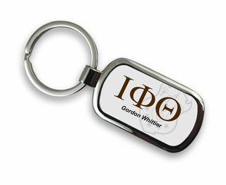 Iota Phi Theta Chrome Crest - Shield Key Chain