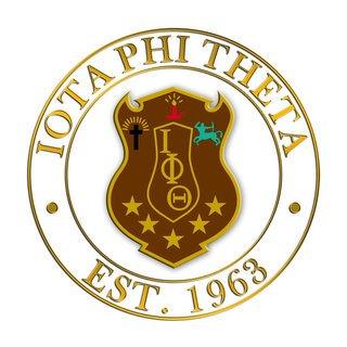 Iota Phi Theta Circle Crest - Shield Decal