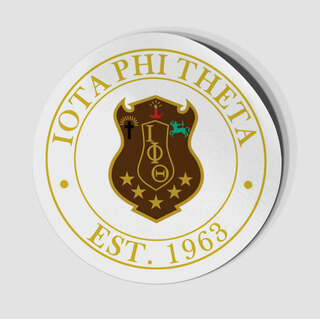 Iota Phi Theta Circle Crest - Shield Decal