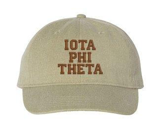 Iota Phi Theta Comfort Colors Pigment Dyed Baseball Cap
