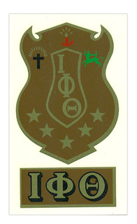 Iota Phi Theta Crest - Shield Decal