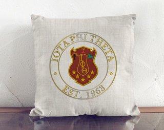 Iota Phi Theta Crest Linen Pillow