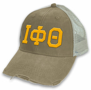 Iota Phi Theta Distressed Trucker Hat