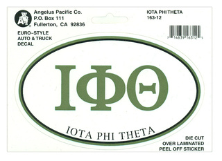 Iota Phi Theta Euro Decal Oval Sticker