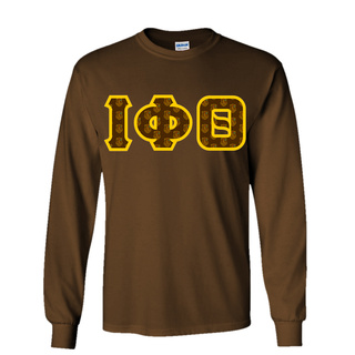 Iota Phi Theta Fraternity Crest - Shield Twill Letter Longsleeve Tee
