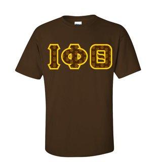 Iota Phi Theta Fraternity Crest - Shield Twill Letter Tee