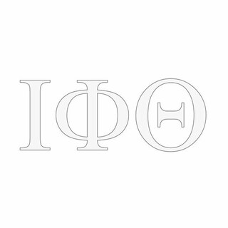 Iota Phi Theta Greek Letter Window Sticker Decal