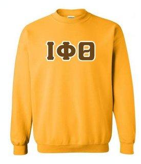 Iota Phi Theta Sewn Lettered Crewneck Sweatshirt