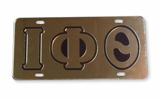 Iota Phi Theta Mirrored Acrylic License Cover