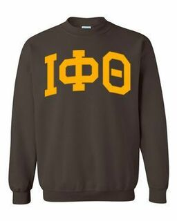 Iota Phi Theta Greek Lettered Arch Crewneck Sweatshirt
