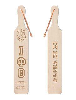 Iota Phi Theta Old School Wood Greek Paddle