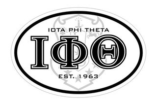 Iota Phi Theta Oval Crest - Shield Bumper Sticker - CLOSEOUT