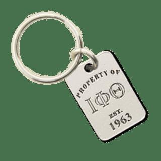 Iota Phi Theta Property of Tag Keychain