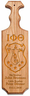 Iota Phi Theta Traditional Greek Paddle