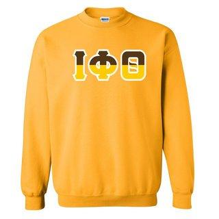 Iota Phi Theta Two Tone Greek Lettered Crewneck Sweatshirt