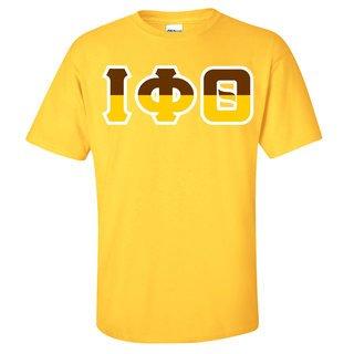 Iota Phi Theta Two Tone Greek Lettered T-Shirt
