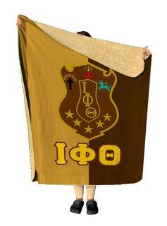 Iota Phi Theta Two Tone Two Tone Sherpa Lap Blanket