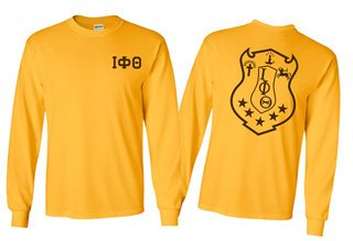 Iota Phi Theta World Famous Crest - Shield Long Sleeve T-Shirt- $19.95!