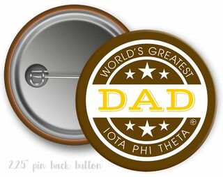 Iota Phi Theta World's Greatest Dad Button