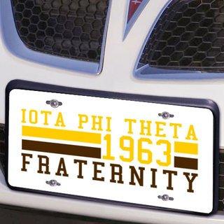 Iota Phi Theta Year License Plate Cover
