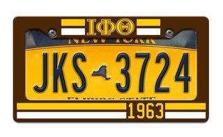 Iota Phi Theta Year License Plate Frame