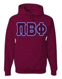 Jumbo Greek Twill Hooded Sweatshirt