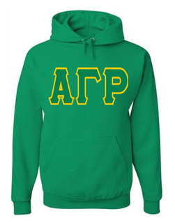 Jumbo Twill Alpha Gamma Rho Hooded Sweatshirt